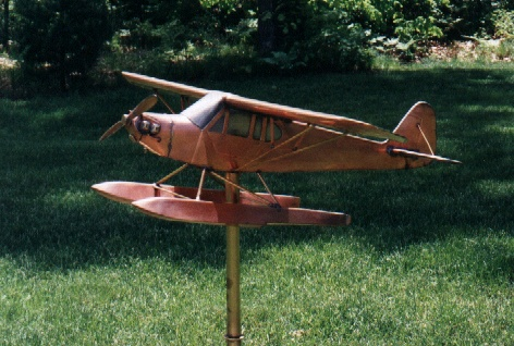 Piper J-3 Cub Floatplane Weathervane