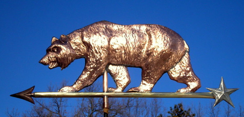 Cal Bear Weathervane