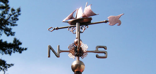 Miniature Ship Weathervane